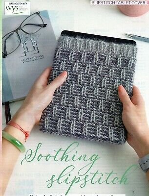 ~ Pull-Out Knitting Pattern For Pretty Colourwork Tablet Cosy ~ 10 x 7 inches ~