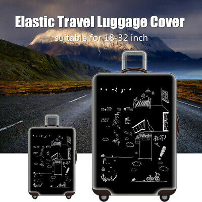 18-32'' Elastic Dustproof Travel Luggage Cover Suitcase Trolley Protector