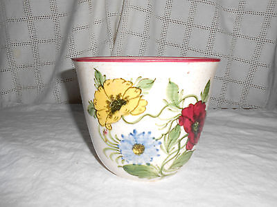 Schramberg majolica planter SMF floral pattern