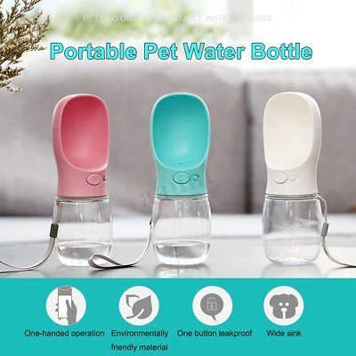 Puppy Dog Cat Pet Water Bottle Cup Drinking Travel Outdoor Portable Feeder New