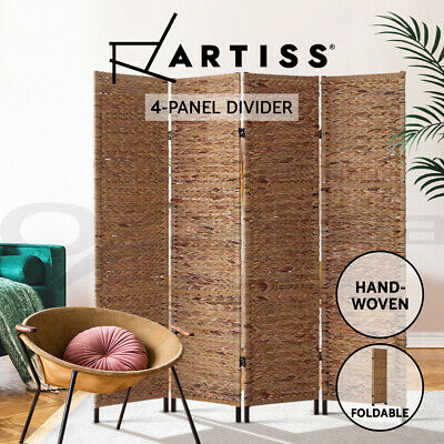 Artiss 4 Panel Room Divider Screen Privacy Dividers Privacy Patition Metal Stand