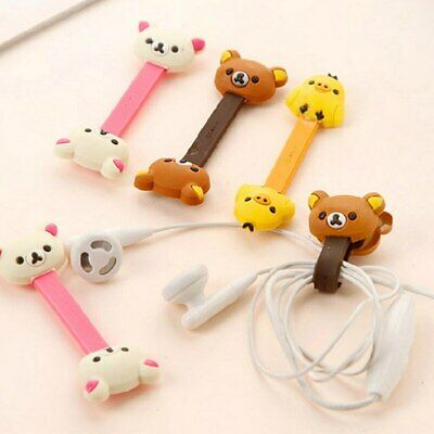 Cartoon Cable Winder Tie Clip Cord Organizer Headphone Wire Wrap Organizer