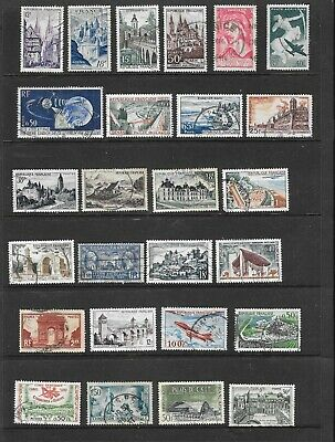 63 Vintage Commemorative Stamps From France. Good Lot of Fine Used.