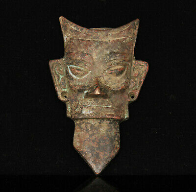 China Collectible Hand-carved Archaize Retro Bronze Mask