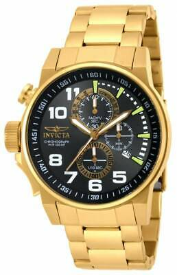 Invicta Men's Watch I-Force Lefty Gunmetal, Black and Gold Tone Dial 17416