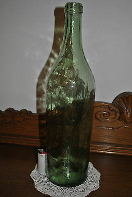 Bouteille ancienne-verre soufflé-Old bottle-late 19th early 20th - 49 cm