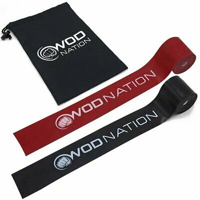 WOD Nation Muscle Floss Bands Recovery Band Tack Flossing (1 Black & 1 Red)