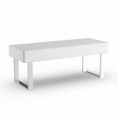 Groovy Strick Bolton Andalucia Modern White Leather Bench Large Ocoug Best Dining Table And Chair Ideas Images Ocougorg