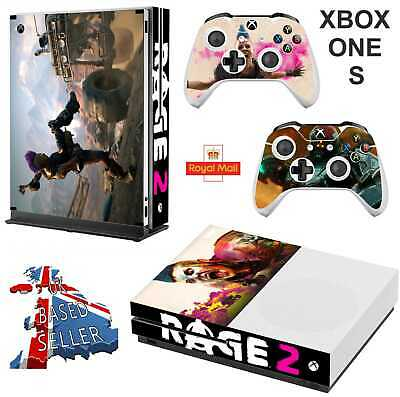 Rage 2 Xbox One S (Slim) *Textured Vinyl ! * Protective Skin Decal Wrap