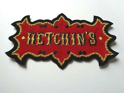 *Rare NOS Vintage 1930s/40s/50s HETCHINS cycles embroidered fabric patch*