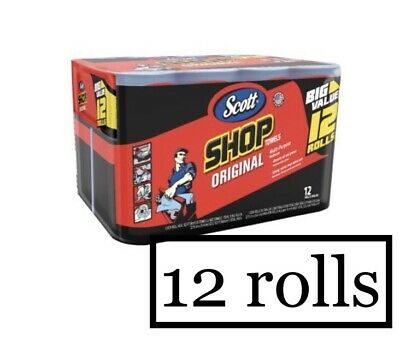 Scott Multi Purpose Shop Towels (12 Big value Rolls).