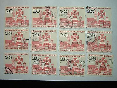 1958 WEST GERMANY MILLENARY OF TRIER MARKET STAMPS x 12 MH/VFU (sg1208) CV £8