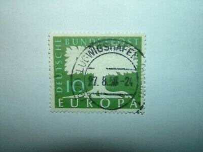 1958 WEST GERMANY 10pf EUROPA WMK 294 VFU (sg1187b) CV £18