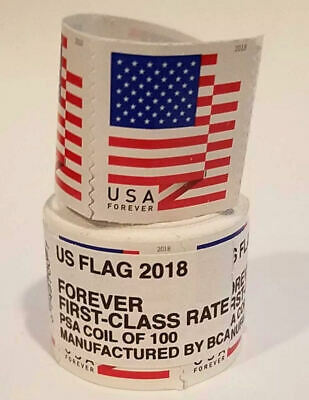 200 Usps Forever Stamps 2018 2 Rolls Of 100 Free Shipping