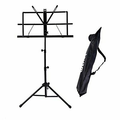 Rayzm Sheet Music Book Stand,Sturdy Portable Folding Metal Stand with Bag,