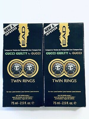 546842b33 2X EAD TWIN RINGS GUCCI GUILTY By GUCCI For Men's Cologne 2.5 oz Spray  BRAND NEW