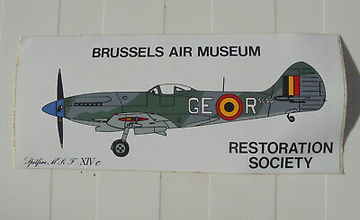 "Autocollant "" Brussels Air Museum "" - Restoration Society (Voir Photo)"