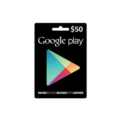 $50 unscratched Google Play Gift Card