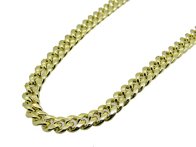 Men's 14K Hollow Gold Miami Cuban Chain 24 Inches 11MM