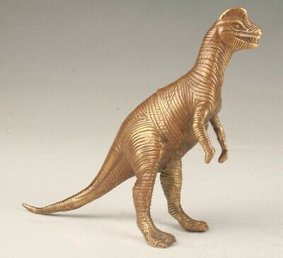 Rare Chinese Bronze Hand-Carved Dinosaur Statue Old Collection Decoration