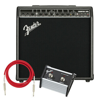Fender Champion 50XL Guitar Amplifier STAGE ESSENTIALS BUNDLE