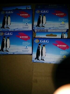 New G&G (4) Remanufacture Epson Stylus CMYK Ink Cartridges Sealed.   4