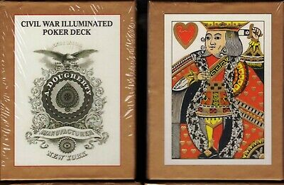 Civil War Illuminated Playing Cards Poker Size Deck USGS Custom Limited Sealed