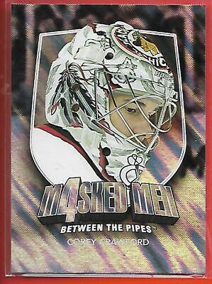 (*Chicag0*)11/12 Between The Pipes Masked Men 4 Silver Mask#Mm-13 Corey Crawford