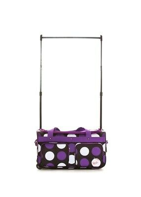 Roller Dance Costume Bag in Medium Size With Purple Polka Dot Pattern