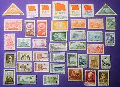 Lot of 110 Different China People's Republic Regular & Air Mail 1950 - 1965