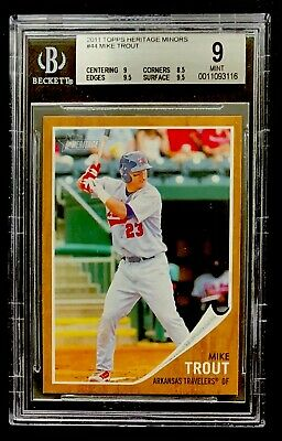 Mike Trout 2011 Topps Heritage Minors Rookie Card Rc 44 4400