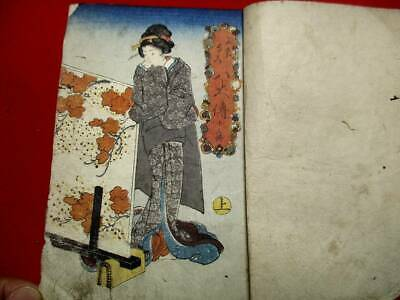 g-46 Japanese KUNIYOSHI13  Two volumes  ukiyoe Woodblock print BOOK