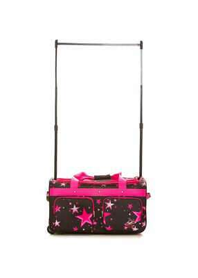 Large Roller Dance Bag With Pink Stars Pattern Ideal For Up To 15 Costumes