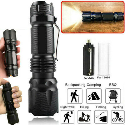 Super Strong Flashlight Zoom 90000LM Tactical Military T6 LED Torch Work Light