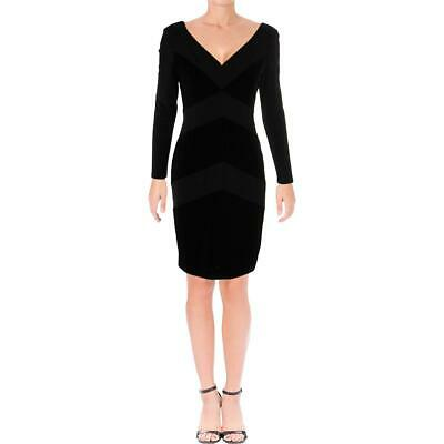 Lauren Ralph Lauren Womens Gunnar Black Velvet Mini Cocktail Dress 16 BHFO 8390