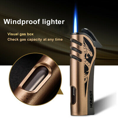 Cigarette LighterTorch Jet Flame Lighter Metal Windproof Cigar Punch withoutGas