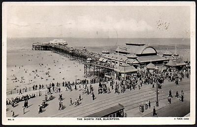 North Pier Blackpool Lancashire England 1895 Old BW Wall Art Poster 47X33 Inches