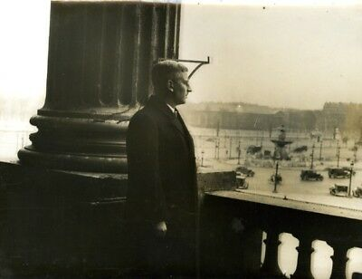 Chancelier Schuchnigg Chancellor Hotel Crillon Paris Place Concorde Photo 1935