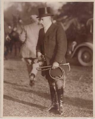 Letcombe Regis Famous Jockey Freddy Fox Hunting Chasse à courre old Photo 1930'