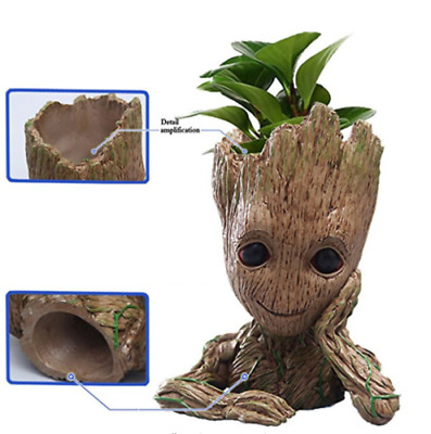 Tree Man Guardians of The Galaxy Baby Groot Flowerpot Pen Figure Xmas Gift AU