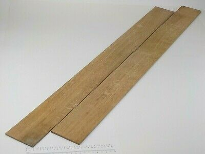 2 thin Quarter Sawn English Oak wood boards.  102 x 1150 x 3&5mm. 3142A