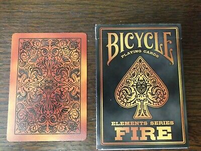 """SUPERB PACK """"Bicycle - Fire,Elements Series"""" Pack of Playing Cards"""