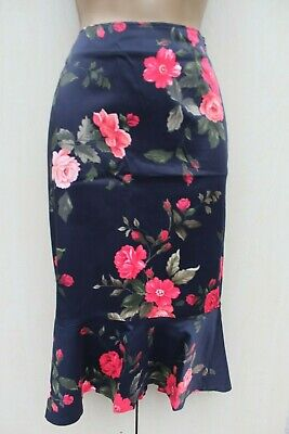 dfc9447ff8 KAREN MILLEN CORSET back Skirt Uk 10 ivory & Black China floral fit ...
