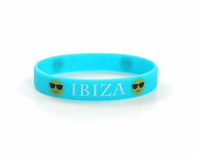 IBIZA Blue Silicone Wristbands Parties Clubs Holiday Stag Hen Do Party