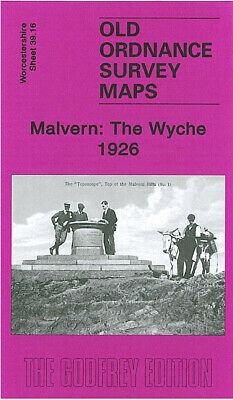 Old Ordnance Survey Map Malvern The Wyche 1926 Worcestershire Beacon The Firs