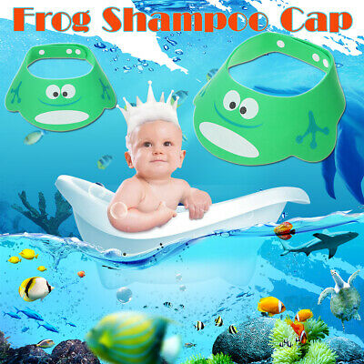 Adjustable Bathing Shower Shampoo Water Cap Ear Hair Shield For Kids Baby Child
