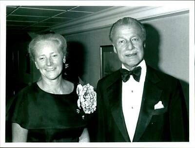 Mr. and Mrs. Xavier Dormeuil at a ball - Vintage photo