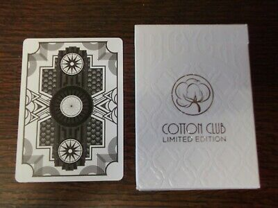 """SUPERB PACK """"Bicycle Type - Cotton  (Mafia) Club (White)"""" Pack of Playing Cards"""