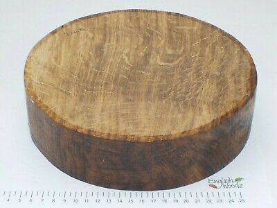 Quarter Sawn English Brown Oak wood turning bowl blank.  230 x 60mm.  3166