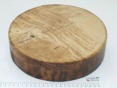 Quarter Sawn English Brown Oak wood turning bowl blank.  255 x 60mm.  3168